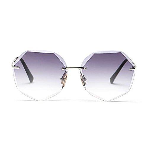Reflective Gafas Sol 4 Street Ultraligero Luz Polarizada Vintage Espejo HOME Movimiento Travel Decorativo 1 Anti Personalidad Beat de Moda Color UV400 Redondo QZ Marco qBwA5Intw