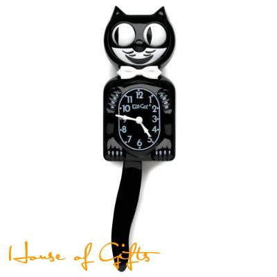 Black Kit Kat Clock Original product image