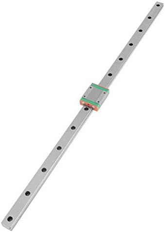 DJY-JY 500mm Miniatur-Linearschienenführung Linear Schienen-lineare Schienenwagen, LML15B Miniatur-Linearschiene Führungs 500mm Länge 15mm Breite + Gleitblock