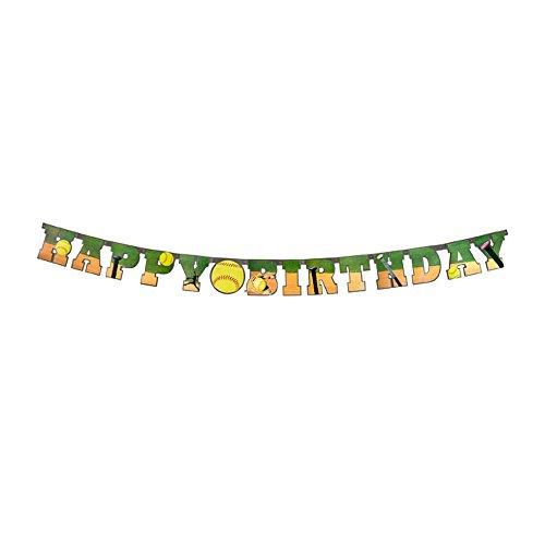 Softball Happy Birthday Banner (Large, 7