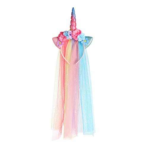 Silly Hats For Adults (Unicorn Headband For Girls and Adults With Tulle Mane and Unicorn Horn - an Ideal Unicorn Costume For)