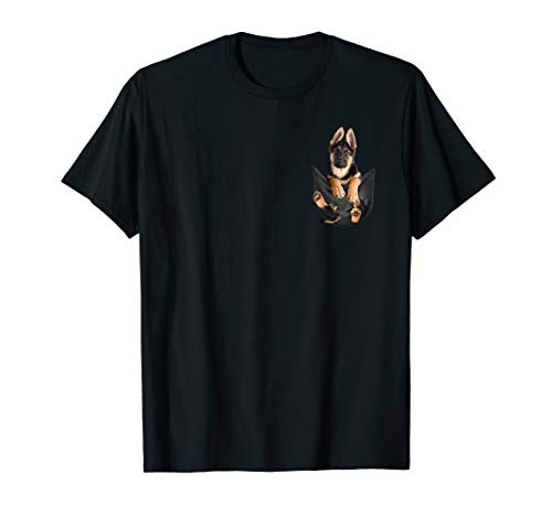 - German Shepherd In Pocket T-Shirt Funny Dog Lover Gifts