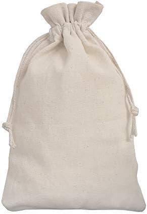 12 Leinens/äckchen Leinenbeutel mit Baumwoll-Kordel Geschenkverpackung aus Leinen-Stoff 15 x 10 cm