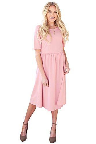 6a989526208 Mikarose  Natalie Modest Dress Modest Bridesmaid Dress