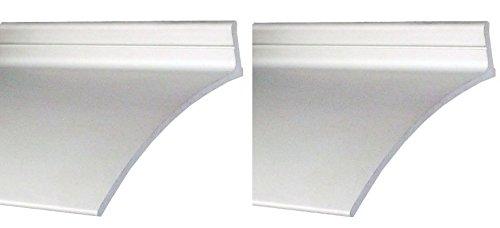 "Pemko Aluminum Door Bottoms Overhead Rain Top Drip, Clear Anodized, 2-1/2""W x 52'' L x 5/8""H (2-Pack)"