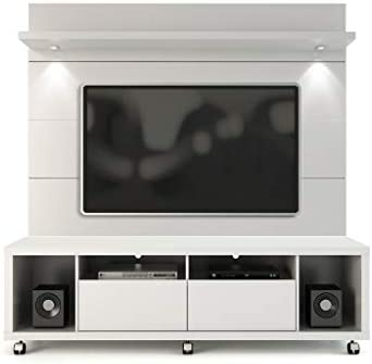 Manhattan Comfort Cabrini TV Stand and Floating Wall LED TV Panel 1.8 Black
