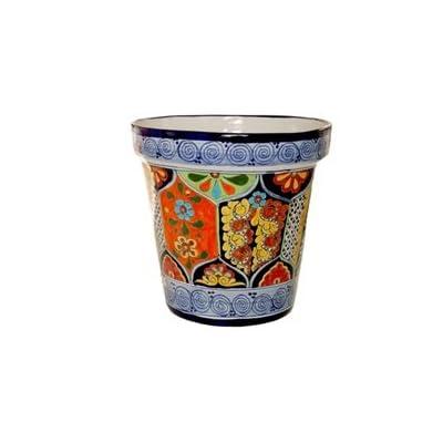 "Tierra Fina Talavera Standard Pot - 16"" Diameter: Garden & Outdoor"