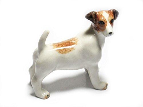 Animal Miniature Handmade Jack Russell Terrier Statuette Collectibles Gift