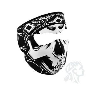Zan Headgear Full Mask, Neoprene, Lethal Threat Gangster Skull