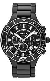DKNY Black Chronograph Dial Ceramic Mens Watch NY1490