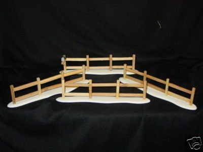 Department 56 Village Accessory Split Rail Fence Set of 4 - Retired