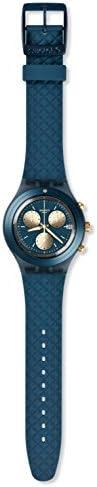 Swatch Hommes Chronographe Quartz Montre avec Bracelet en Silicone SVCN4006