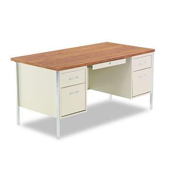 Alera® Double Pedestal Steel Desk DESK,DBL PED 60X30,PTY (Pack of2) ()