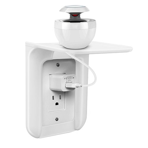 LEDES Wall Outlet Shelf Power Perch Works with Standard Vertical Single/Double Outlets, Charging Shelf for Devices up to 7 lbs Organizer Storage for Home Office Bathroom