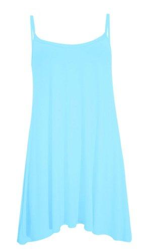 40 Mini Uk Long Cami Size aqua Dress 42 12 Top Eu Chocolate Strappy Sleevless Plus Swing 8 Womens 14 22 Pickle New gqPFAR