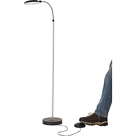 separation shoes 62ad0 0d6be Battery Operated LED Cordless Anywhere Floor Lamp with Foot Control
