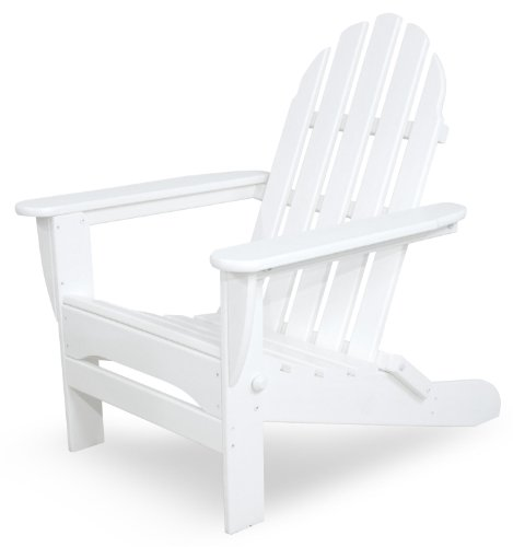 Ivy Terrace IVAD5030WH Classics Folding Adirondack Chair, White Review