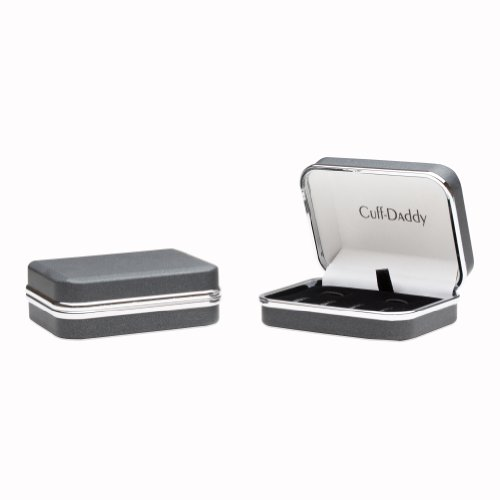 Sterling Silver Plated Mother of Pearl Cufflinks and Studs Formal Set with Presentation Box by Cuff-Daddy (Image #3)