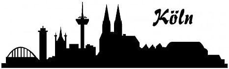 Skyline4u Stadtaufkleber Köln Autoaufkleber Collage In 8 Größen Und 25 Farben 20x5 9cm Schwarz Küche Haushalt