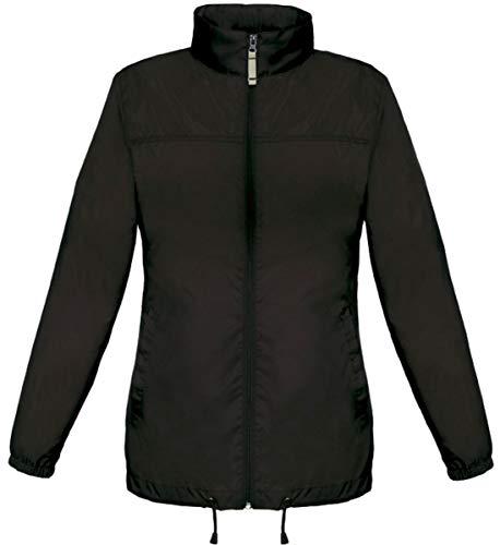 44 Couleur Blouson Coupe Noir Vent Femme Cuir Taille Fashion Impermeable Leger pz588w