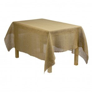Tablecloth Burlap Natural Linen Rectangular 60 X 90 Inch By Broward Linens