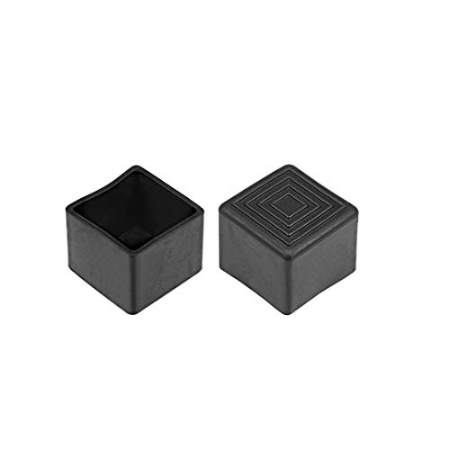 uxcell Rubber End Caps Covers 28mm X 28mm Square Furniture Table Chair Legs 100Pcs (28 Mm Square)