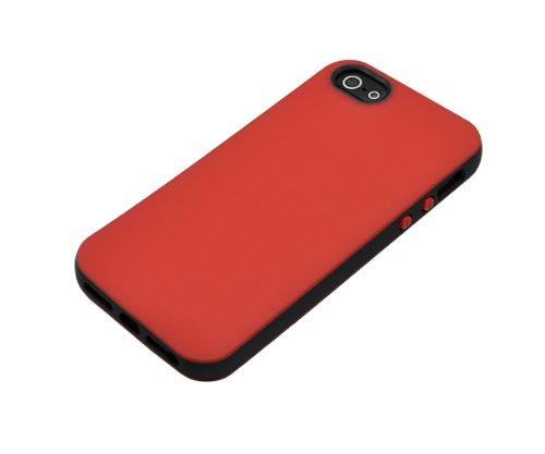 Xcessor Duos en caoutchouc en gel TPU pour Apple iPhone SE / 5 / 5S.Noir/Rouge