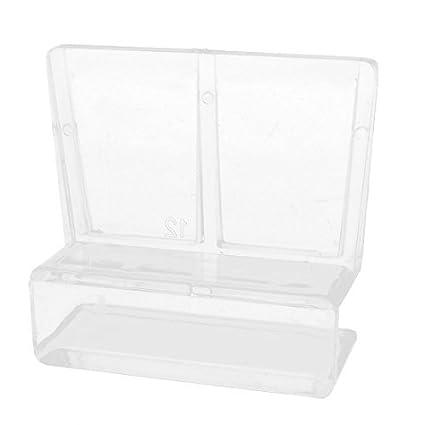 eDealMax acuario de plástico cubierta del Cristal de la ayuda del sostenedor del Clip, 12mm