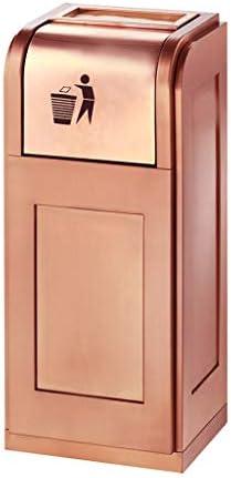 大型金属ゴミ缶ロングチューブ垂直灰バレル屋外ピールバレルボックス廊下オフィスゴミ缶灰皿 (Color : Gold)