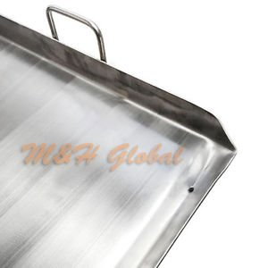 Heavy Duty Stainless Steel 36''x 22'' FLAP TOP GRIDDLE Grill over triple burner