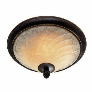 Golden Bronze Tone Finish - Golden Lighting 8106-FM CDB Torbellino Flush Mount, Cordoban Bronze Finish