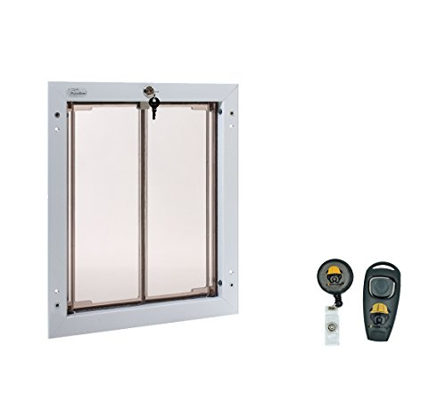 Plexidor Weatherproof Dog Doors Large White Door Mounted Energy