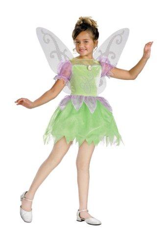 Girls Deluxe Tinker Bell Costume - Child Medium -