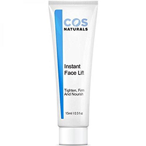 Instant Wrinkle Reducer (COS Naturals INSTANT FACE LIFT Tighten Firm And Nourish Natural & Organic Ingredients Anti Wrinkle Cream Remove Signs of Aging Fine Lines Eye Puffiness Dark Circles Bags, 15ml 0.5 Oz)