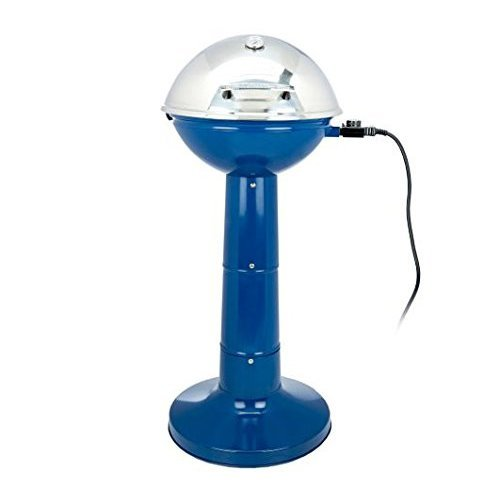Electric Grill 19 Inch Portable Blue Versatile Small Footprint Large Capacity NEW by Mark's Home & Garden Decor
