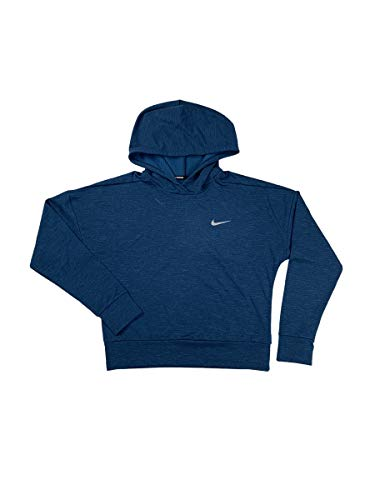 Nike Womens Therma-Fit Dri-Fit Pull-Over Running Hoodie Shirt Blue AJ2769 (X-Small)