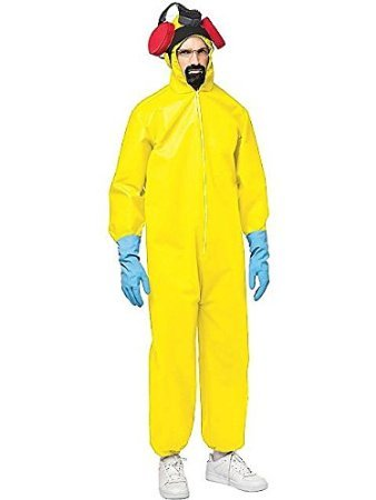 Breaking Bad Hazmat Suit Costume - One Size - Chest Size 48-52