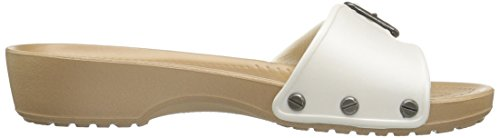 White Blanc Ouvert Sandales Sarahsandalw Bout Femme Gold Oyster Crocs Off wHv1q0