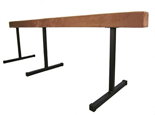 "Gymnastic WOOD Balance Beam 12ft Balance Beam (SECTIONAL) W/ 24"" RISERS TAN"