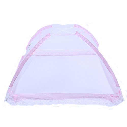 Fairy Baby Ger Tape Portable Bottomless Baby Bed Net with Stand Pack of 1,Pink