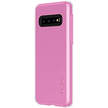Incipio DualPro Dual-Layer Case for Samsung Galaxy S10 with Hybrid Shock-Absorbing Drop-Protection - Clear/Fuchsia Pink