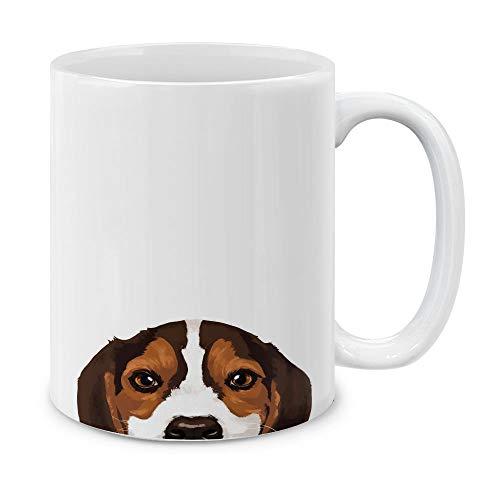 (MUGBREW Beagle Puppy Dog White Ceramic Coffee Mug Tea Cup, 11 OZ)