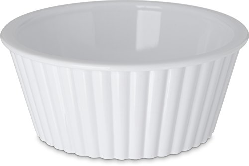 Carlisle 084502 SAN Fluted Ramekin, 4.5-o.z Capacity, 1.50 x 3.50'', White (Case of 48) by Carlisle