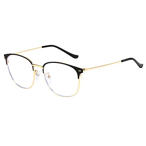 Tuscom Optical Eyewear Fashion Non-Prescription Glasses Blue Light Blocking Eyeglasses Unisex Vintage Fashion Round Frame with Clear Lenses Eyewear for Women Men (Yellow)