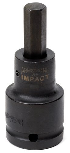 Armstrong 21-719 3/4-Inch Drive Impact Hex Bit Socket, 5/8-Inch by Armstrong