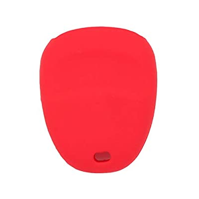 SEGADEN Silicone Cover Protector Case Skin Jacket fit for CHEVROLET GMC CADILLAC HUMMER SATURN PONTIAC 3 Button Remote Key Fob CV4610 Red: Automotive