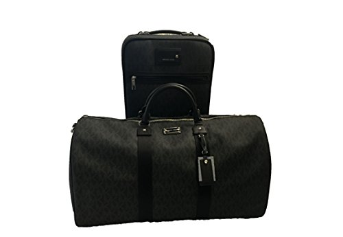 Michael Kors Trolley and Weekender Bag Luggage Set 2pcs Duffle Trolley Black by Michael Kors