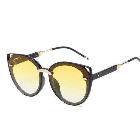 espejo nbsp;mujeres GGSSYY estilo de gafas tamaño sol marrón nbsp;gafas de moda verano nbsp; sol Yellow nbsp;gran tamaño Uv400 gran mujer de marco moda nbsp; wwWHpFxqz