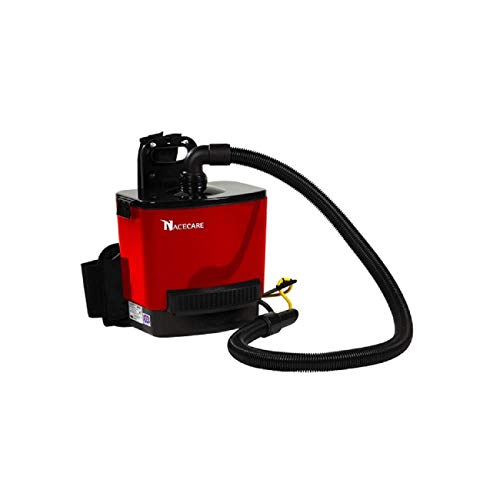 NaceCare RSV130 Back Pack Vacuum, 1.5 Gallon Capacity, 1.6HP, 114 CFM Airflow, 42 Power Cord Length