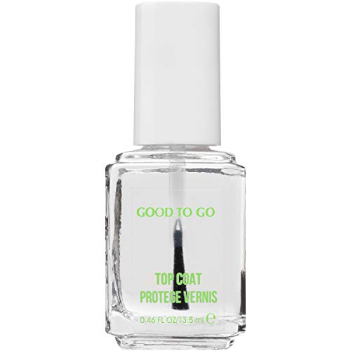 essie good to go top coat fast dry + shine 0.46 fluid ounces fast-drying nail polish